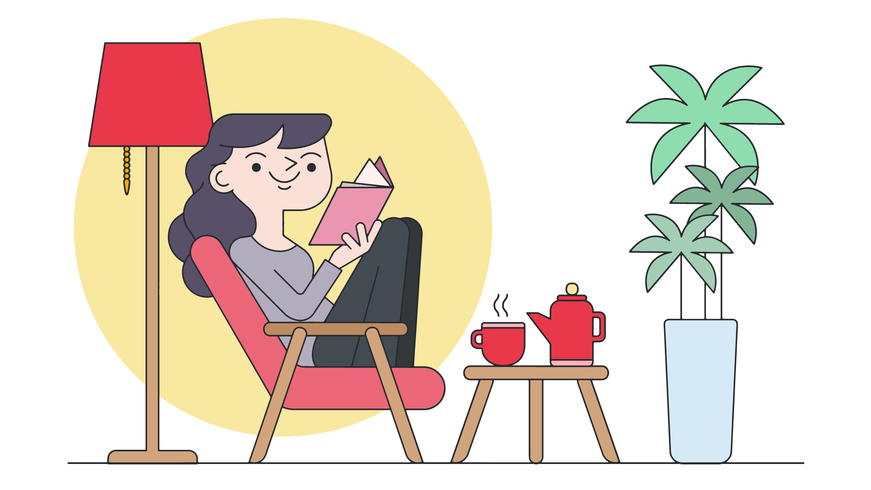 Cozy Reading Vector