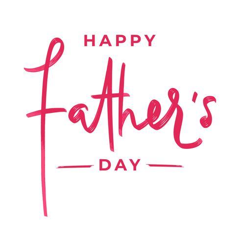 Feliz día del padre letras pincel