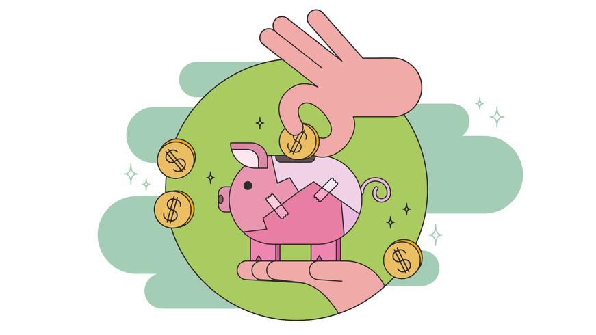 Vector de ahorro