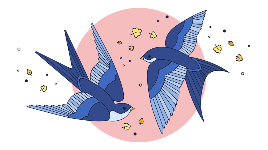 Swallow Dance Vector