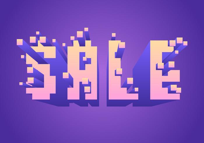 Vector de tipografía de venta de píxeles explosivos