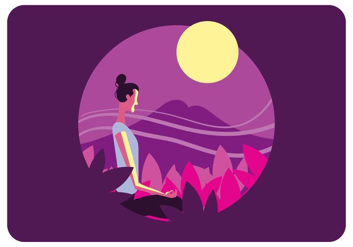 Vector de salud mental de yoga