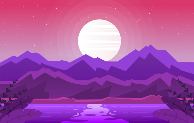 Vector paisaje ilustración