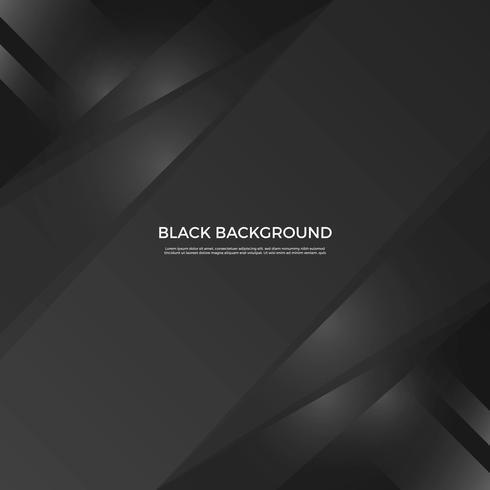 Plano moderno fondo negro simple forma vectorial