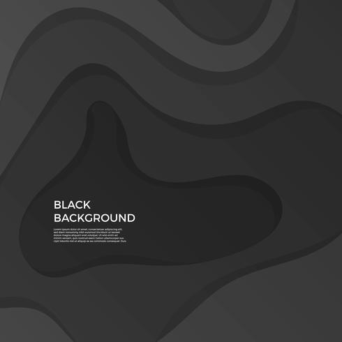 Flat Simple Wave Black Vector Background