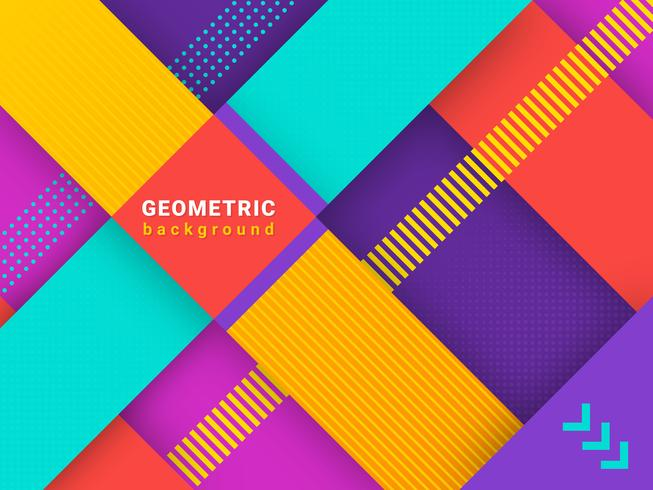 Trendy Abstract Geometric Background vector