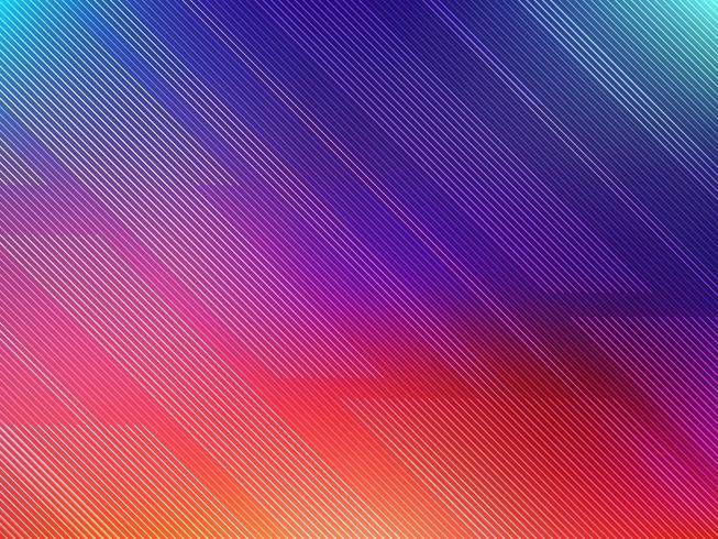 Fondo de líneas coloridas abstractas vector