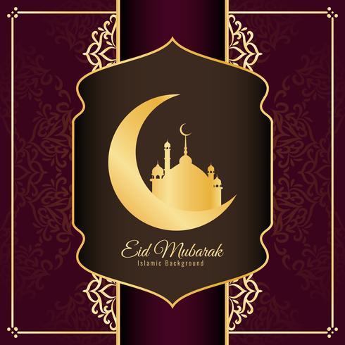Abstract stylish Eid Mubarak background design