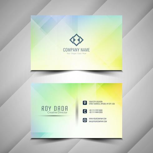 Abstract elegant colorful Business card design vector