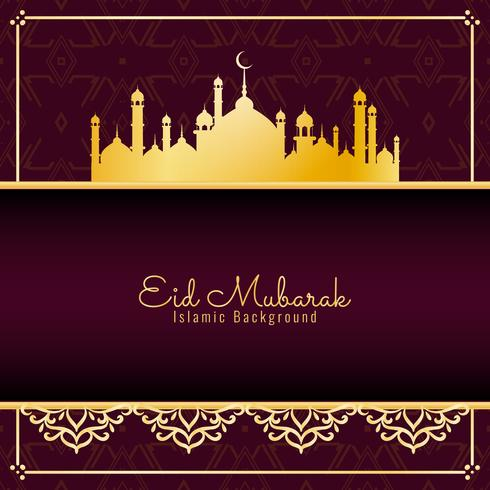 Abstrakt Eid Mubarak religiös bakgrundsdesign