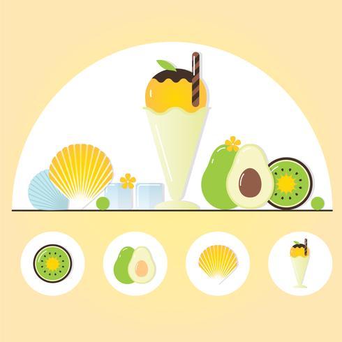 Vector ilustración de elementos de verano