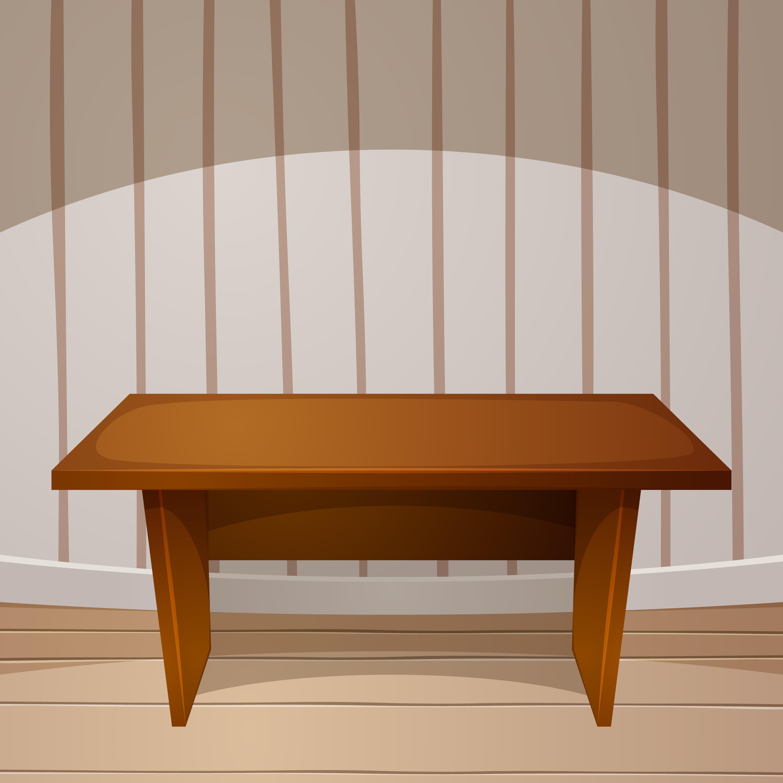 Cartoon Room Wooden Table Vector Illustration Download