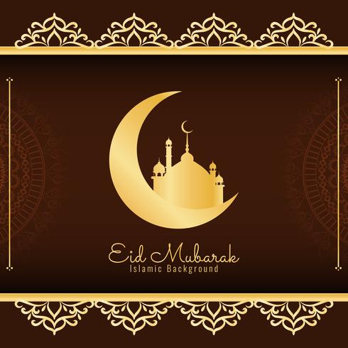 Abstract Eid Mubarak background design