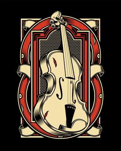 viola Musical Instrument String.vector disegno a mano vettore
