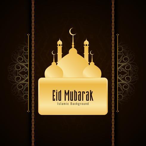Abstrait Eid Mubarak design fond religieux
