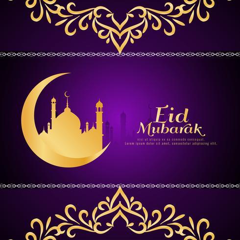 Abstracte Eid Mubarak religieuze achtergrond