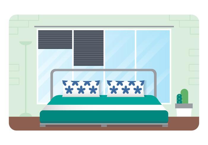Vector ilustración de dormitorio