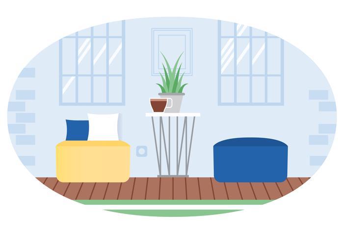 Vector ilustración de sala de estar