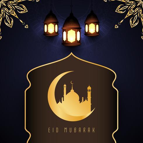 Abstrait religieux Eid Mubarak design élégant fond