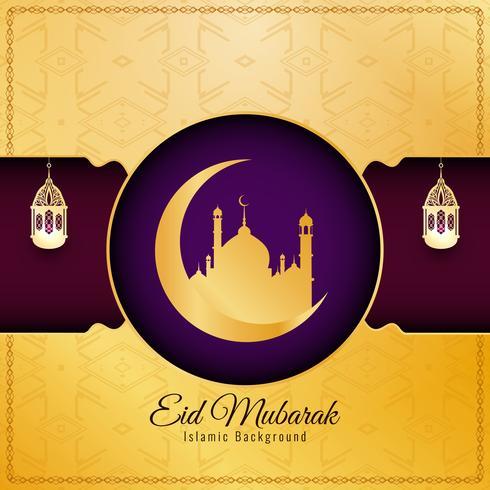 Abstrakter eleganter dekorativer Hintergrund Eid Mubarak