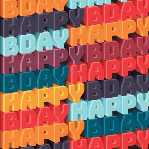 Feliz cumpleaños patrón vector