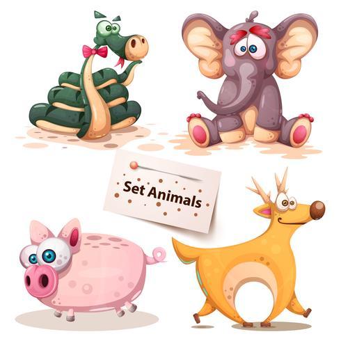 Schlange, Elefant, Schwein, Hirsch - Elefant.