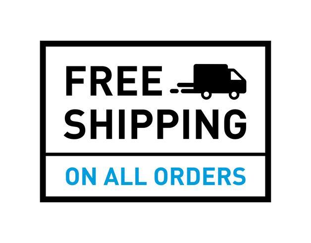 Livraison gratuite. Badge avec icône de camion.