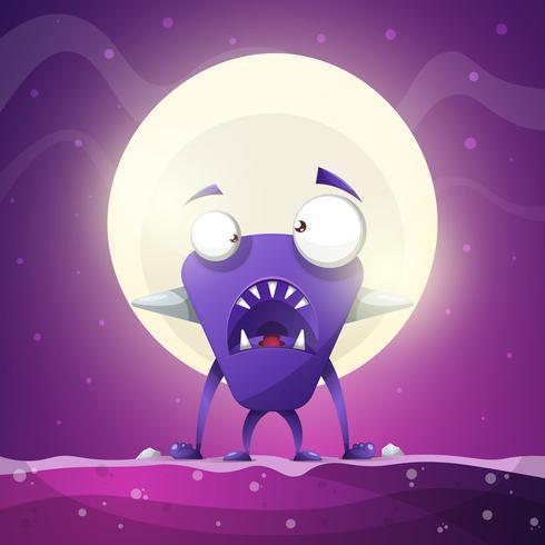 Miedo, horror, infierno, ilustración de dibujos animados. Animales monstruo vector