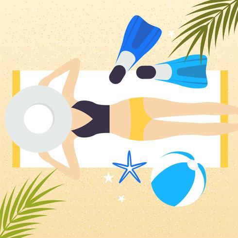Illustration de vecteur Summertime
