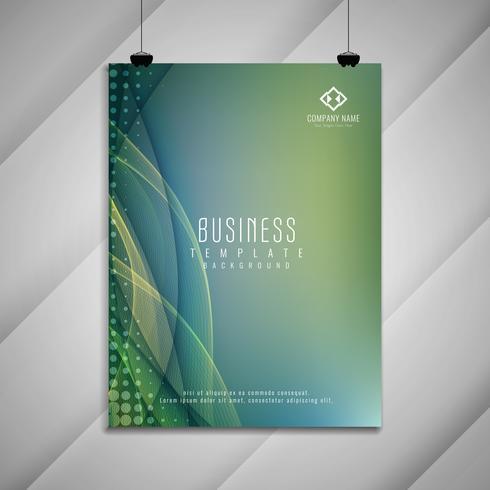 Modelo de design de brochura de negócios ondulado elegante abstrata