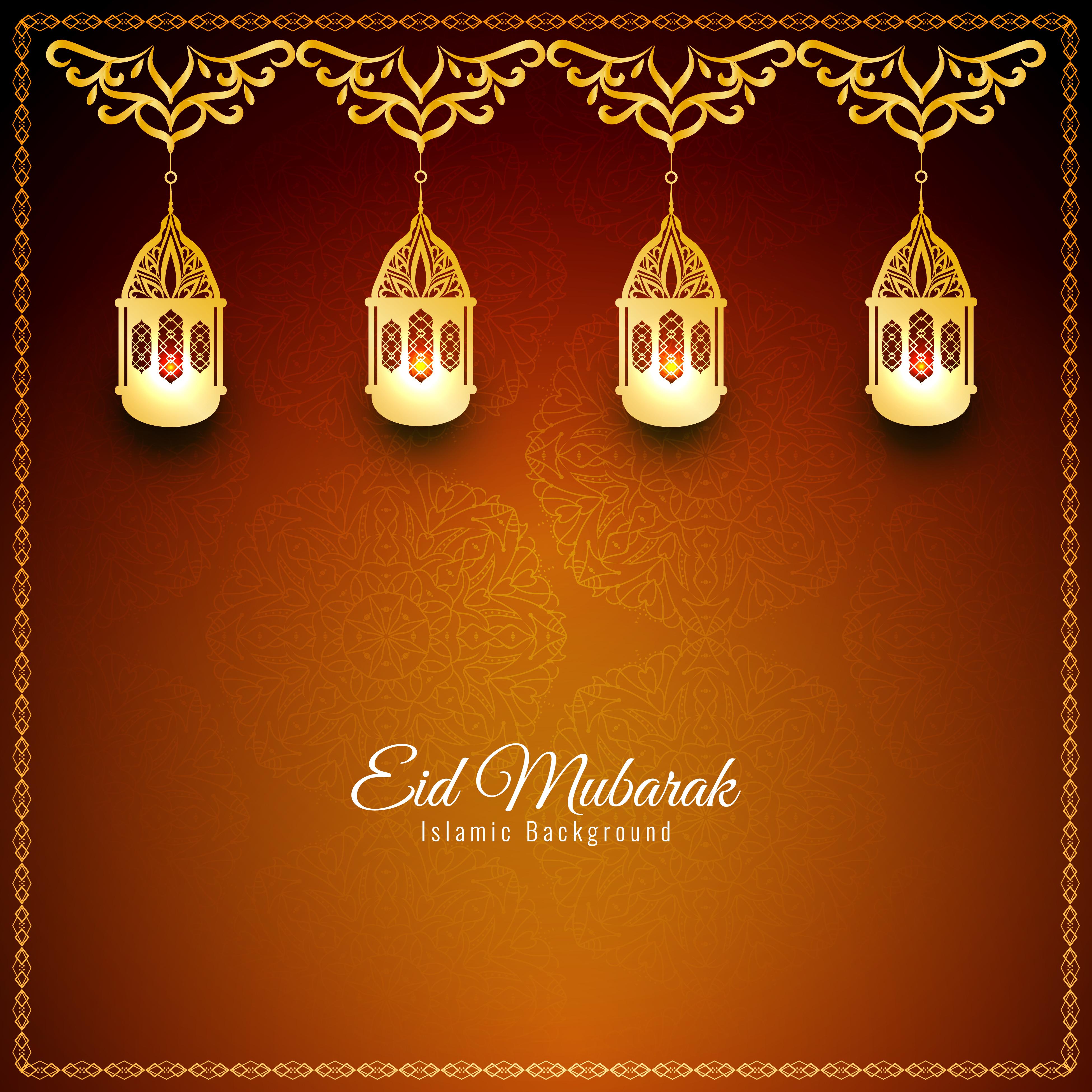 Abstract Eid Mubarak Stylish Background Design