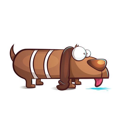 Personagens de cachorro engraçado, bonito dos desenhos animados.