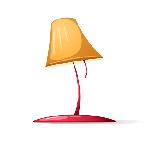 Table lamp with shadow and glare.