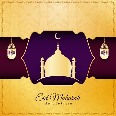 Abstraktes religiöses Hintergrunddesign Eid Mubaraks