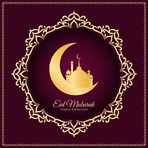 Abstrakt Eid Mubarak bakgrundsdesign