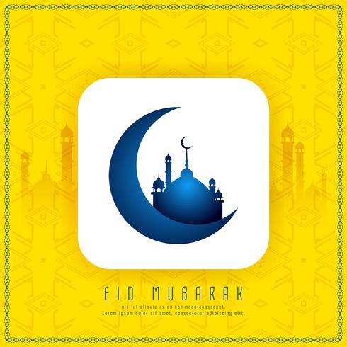 Abstract godsdienstig Eid Mubarak modieus ontwerp als achtergrond