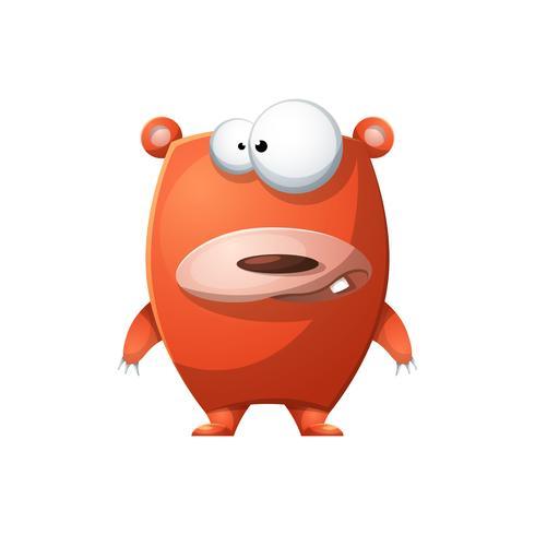 Oso lindo, divertido - ilustración de personajes de dibujos animados. vector