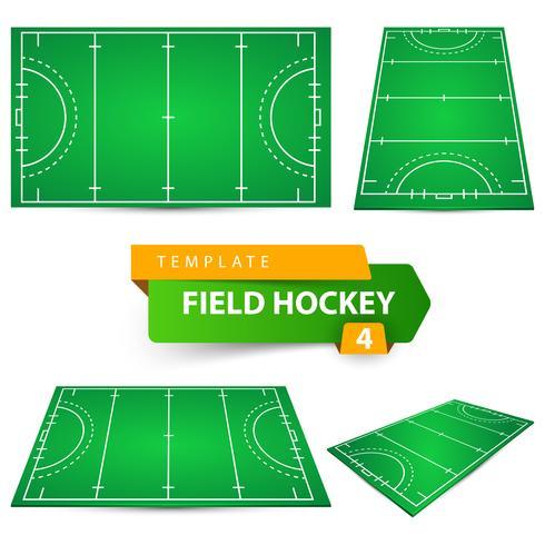 Field hockey - fyra objekt mall.