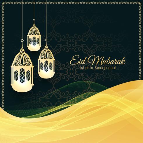 Abstrakt elegant Eid Mubarak dekorativ bakgrund