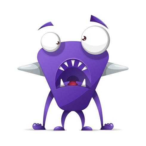 Vreselijk, schattig monster - stripfiguren.