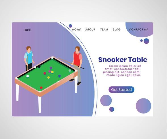 Conceito de arte isométrica da mesa de Snooker