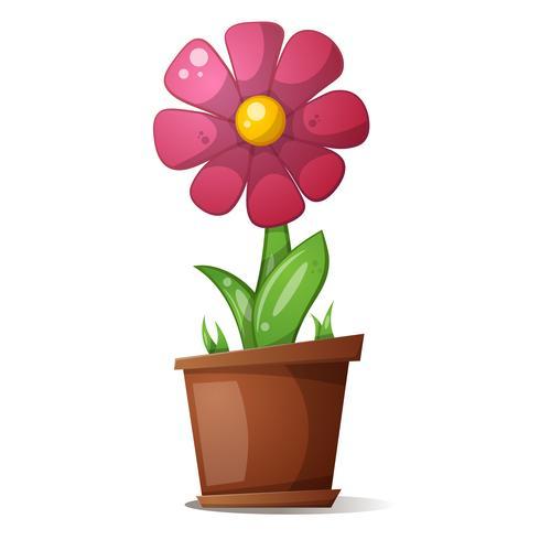 Pot Fleur Illustration De Dessin Animé Telecharger
