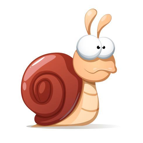 Illustration d'escargot drôle et mignon. Shadowand réfléchir.