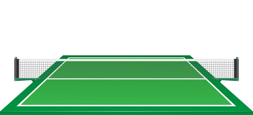 rete e tavolo per tennis ping pong illustrazione vettoriale