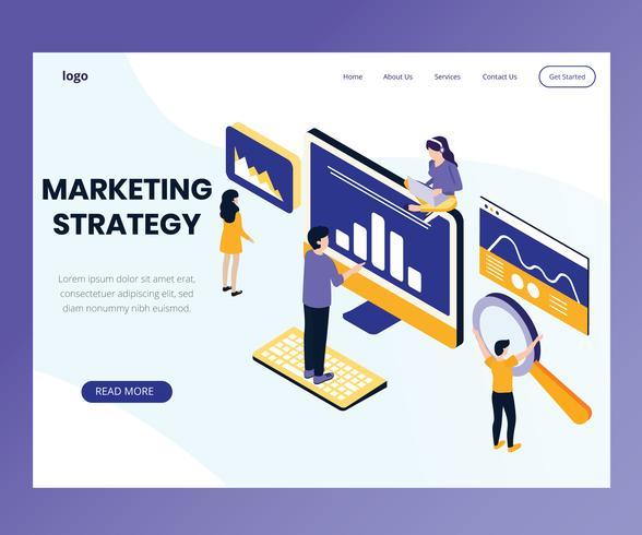 Marketing strategy Isometric Artwork Concept