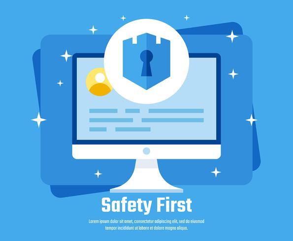 Cyber-Sicherheits-Illustration