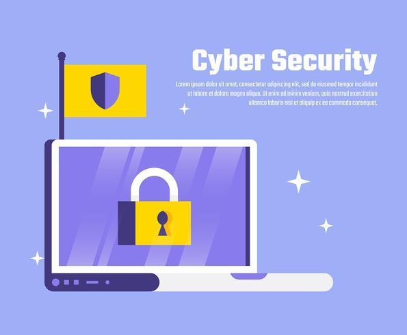 Illustrazione di sicurezza informatica