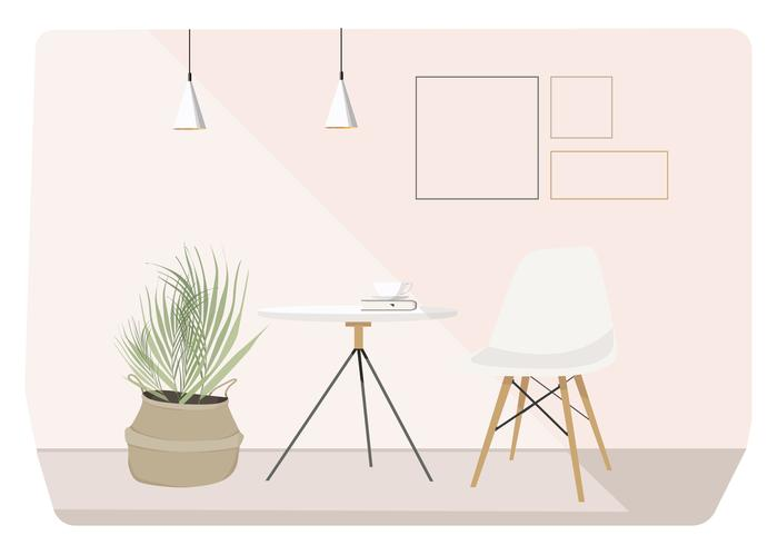 Vektor-Wohnzimmer-Illustration