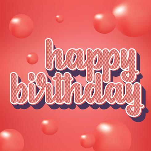 Feliz cumpleaños tipografía vector diseño