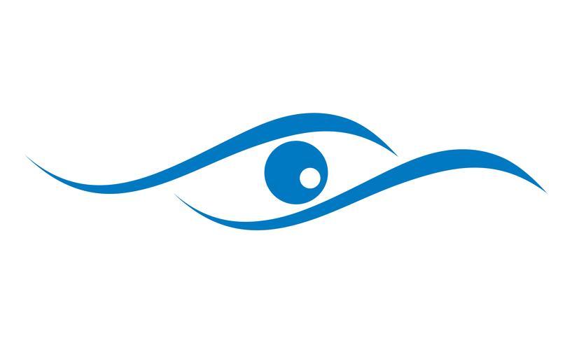 oog logo voor oogheelkunde kliniek vectorillustratie